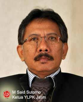 Ketua YLPK Jatim M Said Sutomo
